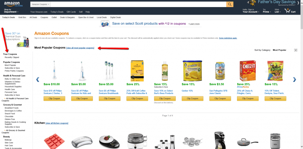 6 Amazon clippable coupons