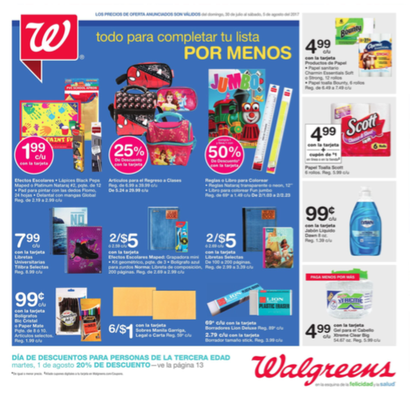 Shopper de Walgreens Puerto Rico (30 de julio – 5 de agosto 2017